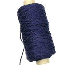 Шнур 2 мм гривни и гердани син тъмно -100 метра