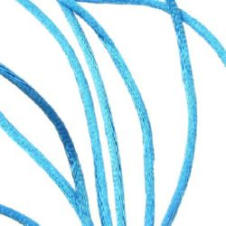 Κορδόνι γυαλιστερό 2 mm μπλε -10 μέτρα