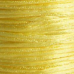 Κορδόνι γυαλιστερό 1 mm κίτρινο -10 μέτρα