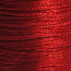 Jewellery Cord polyamide shiny 1 mm red -10 meters