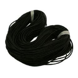 Κορδόνι σιλικόνης 2,5 mm μαύρο -5 μέτρα