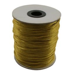 Polyamide jewellery cord 2 mm gold dark -10 meters