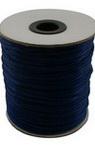 Шнур полиамид лъскав 2 мм син тъмно -10 метра