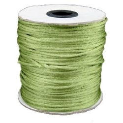 Polyamide jewellery cord 2 mm green olive -10 meters