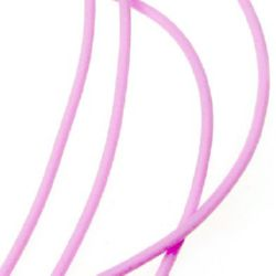 Κορδόνι σιλικόνης 2 mm ροζ -5 μέτρα