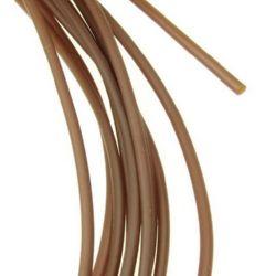 Шнур силикон 2 мм дупка 1 мм кафяв -5 метра