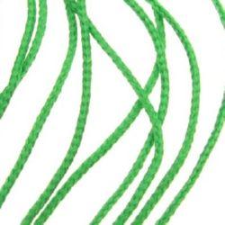 Шнур 1 мм за гривни К зелен -30 метра