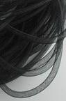 Шнур мрежест тръбичка 8 мм черен -6 метра