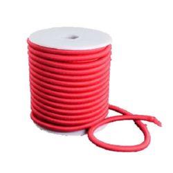 Силиконова тръбичка 5 мм дупка 2 мм облечена с конец полиестер оранжев -1 метър