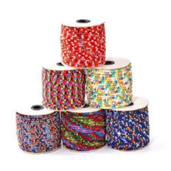 Cloth Cord, Ethnic Cord 6mm round different styles -1 meter