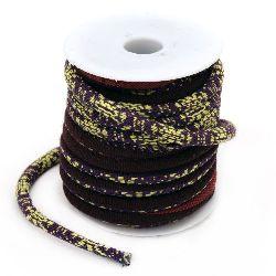 Snur etno textil 6 ~ 7 mm rotund -1 metru