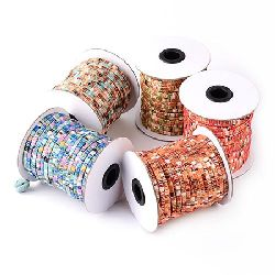 Fabric cord 4x1 mm flat MIX -1 meter