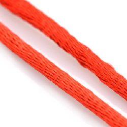 Шнур полиамид лъскав 1.5 мм червен ~15 метра