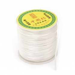 Snur poliamid strălucitor 1,5 mm alb ~ 45 metri