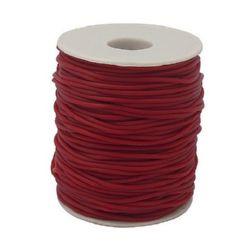 Шнур силикон 2 мм дупка 0.5 мм тъмно червен -130 метра