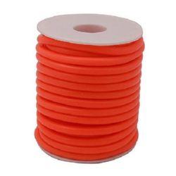 Шнур силикон 2 мм дупка 0.5 мм оранжев -52 метра