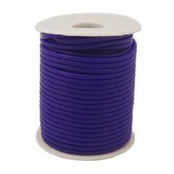 Шнур силикон 2 мм дупка 0.5 мм тъмно син -52 метра