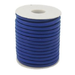 Silicone cord 2 mm hole 0.5 mm blue -52 meters