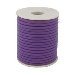 Шнур силикон 2 мм дупка 0.5 мм лилав -52 метра