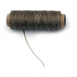 Wax thread 0.8 mm beige - 50 meters