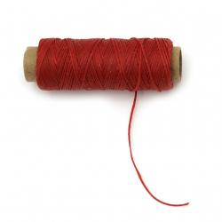 Wax thread 0.8 mm red - 50 meters