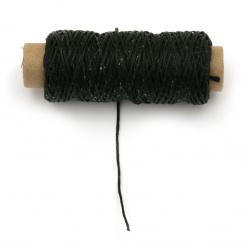 Wax thread 0.8 mm black - 50 meters
