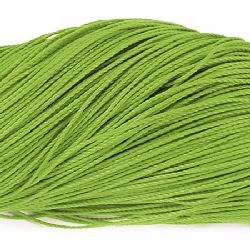 Stringed polyester cord 1 mm green ~ 80 meters