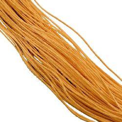 Колосан памучен шнур /конец/ 0.8 мм жълт тъмно ~67 метра