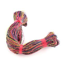 Cotton cord 1 mm colored ~ 78 meters