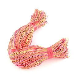 Cotton cord1 mm peach color ~ 78 meters