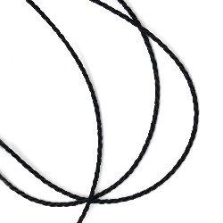 Шнур полиестер колосан 1.5 мм цвят черен ~90 метра