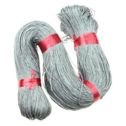 Cotton cord 1 mm gray ~ 76 meters