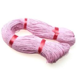 Cord of cotton 1 mm pink ~ 76 meters
