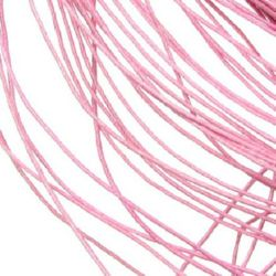 Cord of cotton 1 mm pink pale ~ 76 meters
