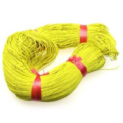 Cotton cord 1 mm yellow ~ 76 meters