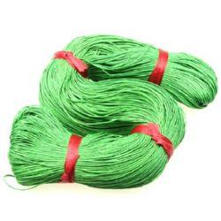 Памучен колосан шнур/конец/ 1 мм зелен ~76 метра