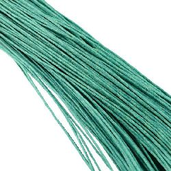 Шнур памук колосан 1 мм тюркоаз светъл ~76 метра
