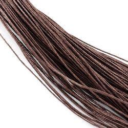 Шнур памук колосан 1 мм кафяв ~76 метра