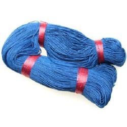 Памучен колосан шнур/конец/ 1 мм син тъмно ~76 метра