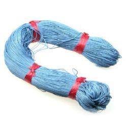 Памучен колосан шнур/конец/ 1 мм небесно син ~76 метра