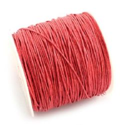 Cotton cord  1 mm red -84 meters