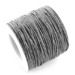 Памучен колосан шнур/конец/ 1 мм сив -84 метра