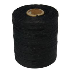 Шнур памук с восък 1.5 мм черен ~548 метра