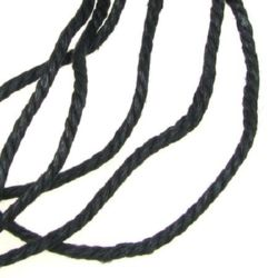 cotton cord 3 mm black ~ 80 meters