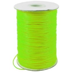 Cord polyester 1.5 mm green electric ~ 10 meters