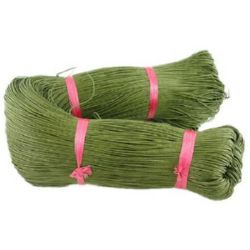 cotton cord 1.5 mm green olive ~ 72 meters
