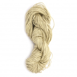 Jewellery cotton cord 0.8 mm beige ~ 72 meters