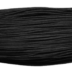 Колосан памучен шнур /конец/ 0.8 мм черен ~67 метра