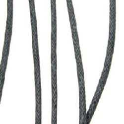 Jewellery cotton cord 2 mm gray