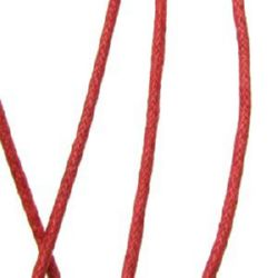 Jewellery cotton cord 2 mm red,72 meters